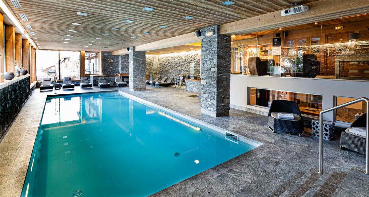 10 spas d 39 hotels de montagne france montagnes site for Chalet a la montagne avec piscine