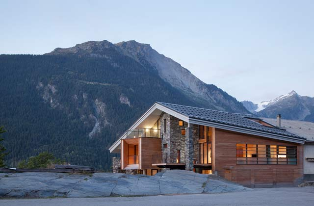R novation contemporaine d 39 un chalet de montagne france montagnes site officiel des stations - Chalet architectuur ...