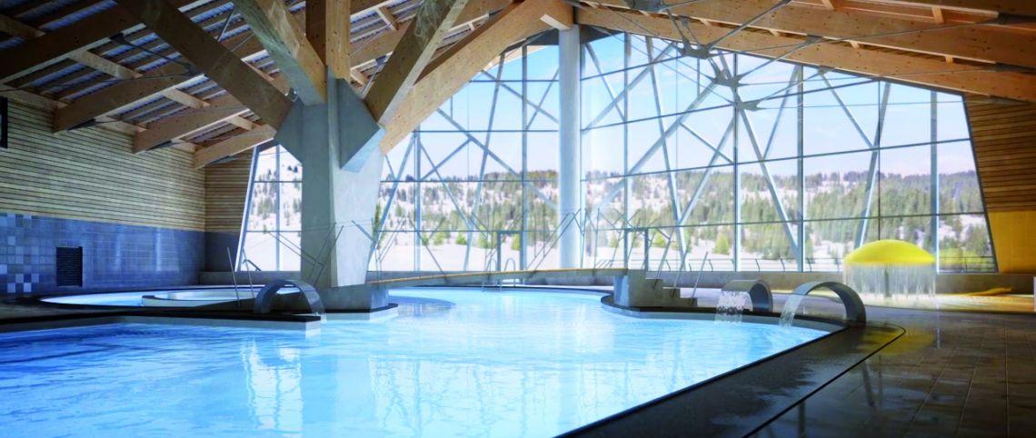 Le signal le nouveau temple de l 39 apr s ski des saisies for Vente piscine montreal