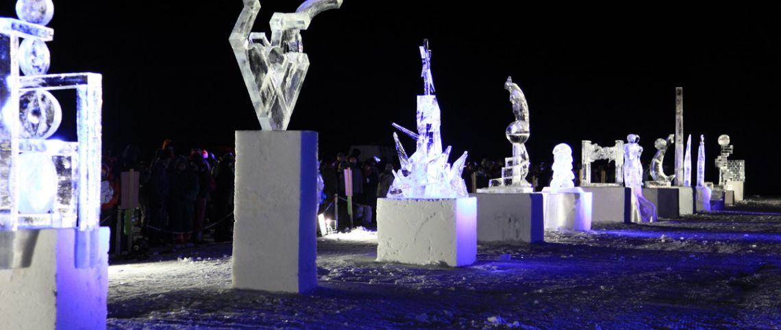Sculptures sur glace elles brillent de mille feux - Saint de glace 2018 ...
